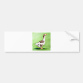A Portrait of a Goose Bumper Sticker