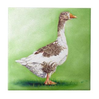 A Portrait of a Goose Ceramic Tile