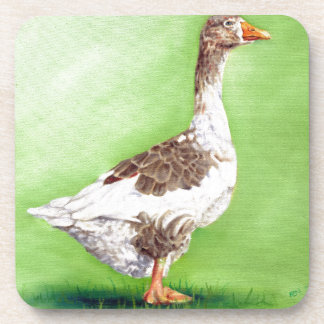 A Portrait of a Goose Drink Coaster