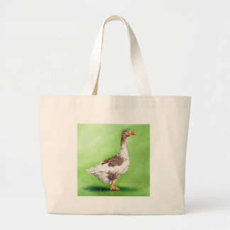 A Portrait of a Goose Large Tote Bag