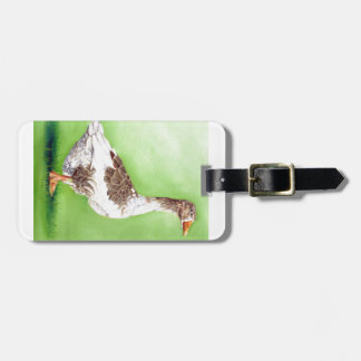 A Portrait of a Goose Luggage Tag