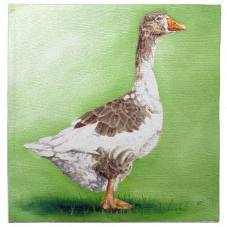 A Portrait of a Goose Napkin