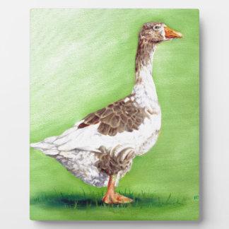 A Portrait of a Goose Plaque
