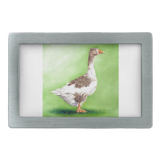 A Portrait of a Goose Rectangular Belt Buckles