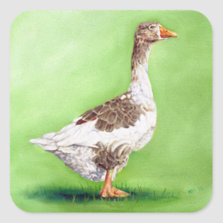 A Portrait of a Goose Square Sticker