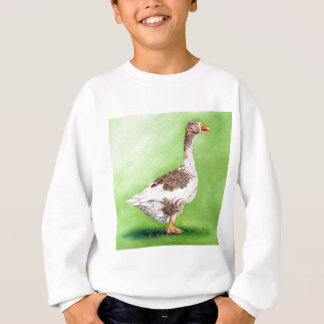 A Portrait of a Goose Sweatshirt