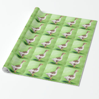 A Portrait of a Goose Wrapping Paper