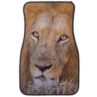A portrait of a Lion Car Floor Carpet