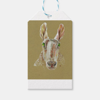 A portrait of a sheep gift tags