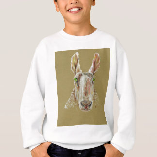 A portrait of a sheep sweatshirt