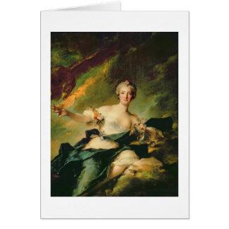 A Portrait of Anne Josephe Bonnnier de la Mossau ( Card