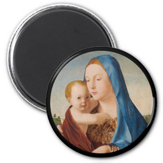A Portrait of Mary and Baby Jesus 2 Inch Round Magnet