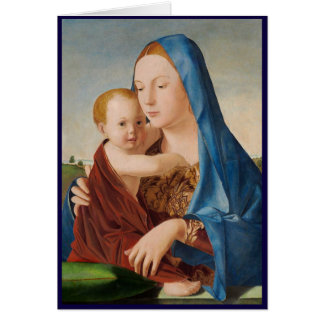 A Portrait of Mary and Baby Jesus Card