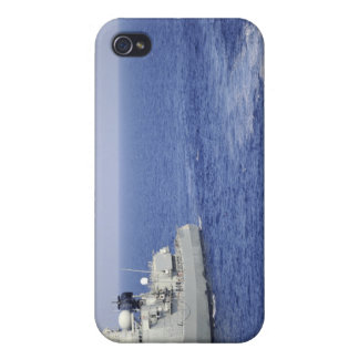 A Portuguese navy team in an inflatable boat iPhone 4 Covers