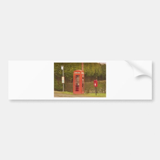 A Post Box, A Telephone Box and a Bus Stop Bumper Stickers