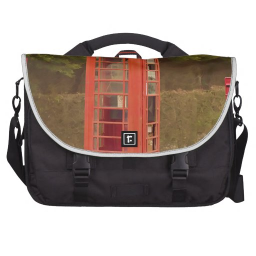 A Post Box, A Telephone Box and a Bus Stop Laptop Bags
