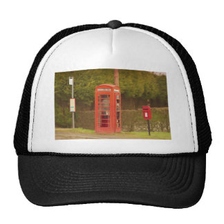 A Post Box, A Telephone Box and a Bus Stop Trucker Hat