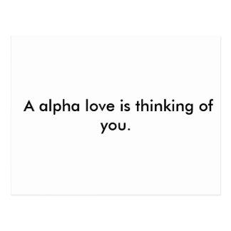 A post card alpha style.