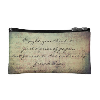 """""""A postcard means a lot"""" Cosmetic Bag"""
