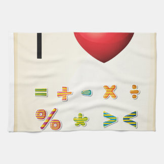 A poster showing the love of Mathematics Kitchen Towel