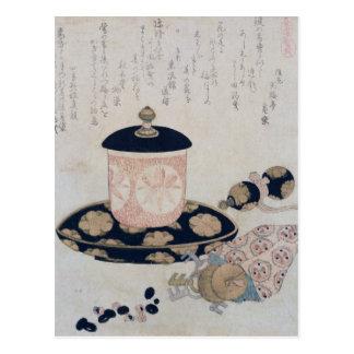 A Pot of Tea and Keys, 1822 Postcard