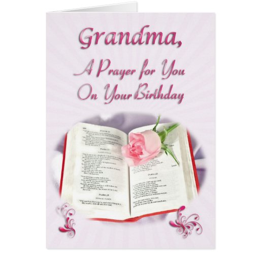 A prayer for a grandma on her birthday greeting card zazzle for What to get grandma for her birthday