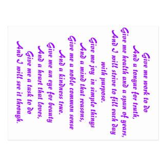 A prayer of hope postcard