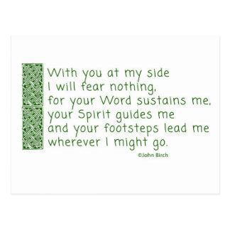 A prayer of thanksgiving postcard