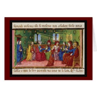 A Presentation of Virgin Mary c1476 Card