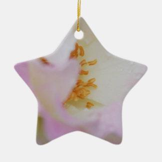 A pretty pink rose ceramic star ornament