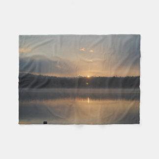 A pretty sunrise fleece blanket