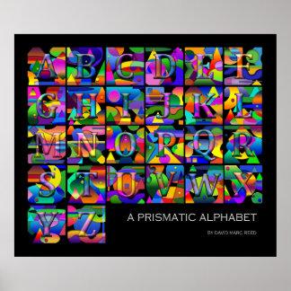 A Prismatic Alphabet Poster
