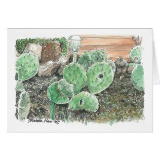 A private cactus garden card