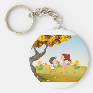 A proposal at the hills basic round button keychain