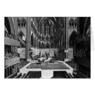 A Prospect of the Inside Collegiate Church Card