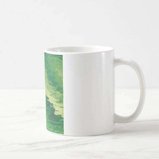 A Puff of Green Smoky Haze Coffee Mugs