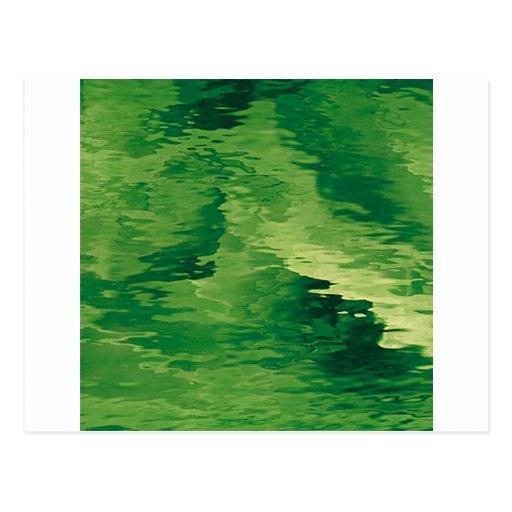 A Puff of Green Smoky Haze Post Card