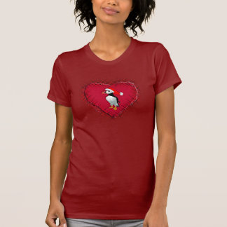 A Puffin On A Puffed Heart T-Shirt