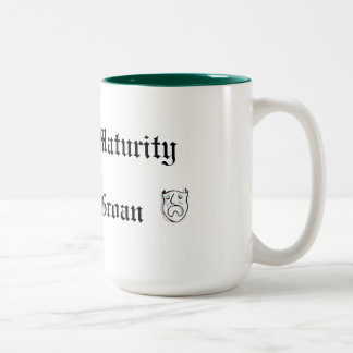 A Pun at Maturity is Fully Groan Two-Tone Coffee Mug