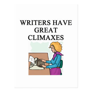 a pun for writers postcard
