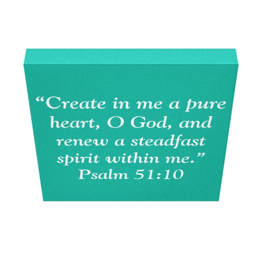 """A Pure Heart"" 12 x 12 Scripture Wrapped Canvas"