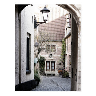 A quaint alley in the beguinage postcard