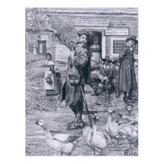 A Quaker Exhorter in New England Postcard