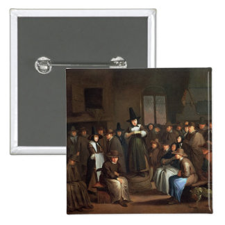 A Quakers Meeting 2 Inch Square Button