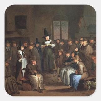A Quakers Meeting Square Sticker