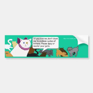 a queen's request bumper sticker