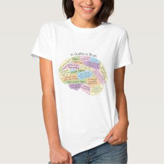 A Quilter's Brain Women's T-Shirt