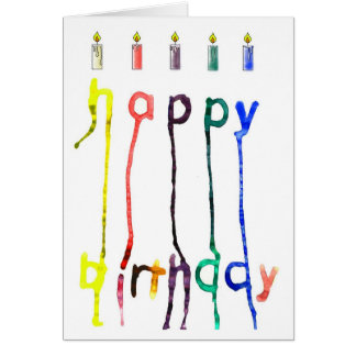 A quirky birthday greeting card. card