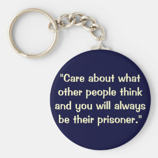 A quote keychain