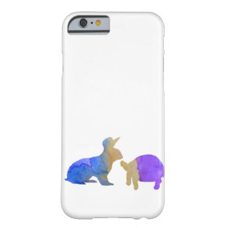A rabbit and a tortoise barely there iPhone 6 case